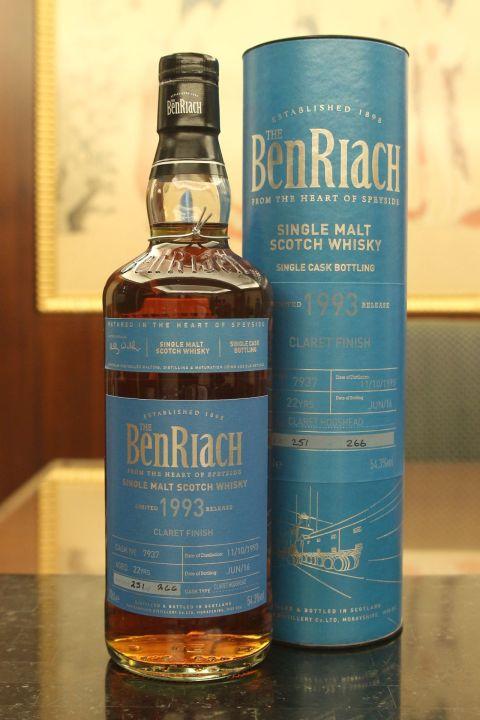 BenRiach 22yr 1993 Claret Hogshead Finish 班瑞克 22年 紅酒桶 (54.3% 30ml)