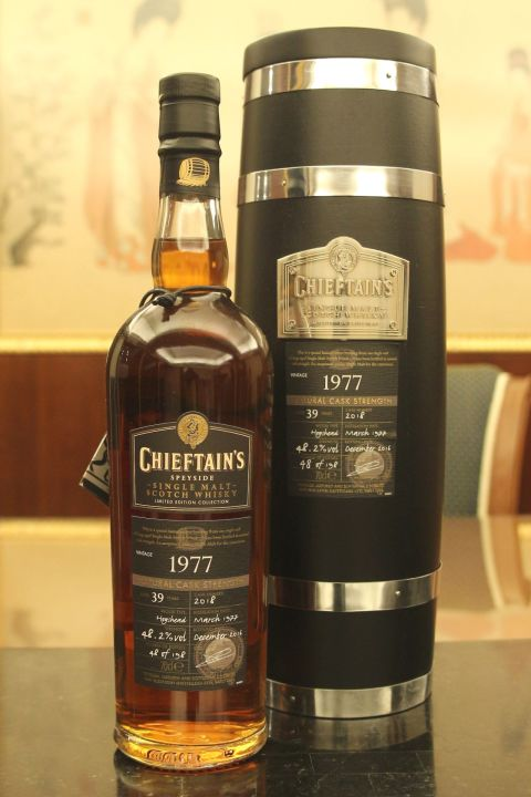 Chieftain's 39yr 1977 Naturel Cask Strength 老酋長 1977 39年 單桶原酒 (48.2% 30ml)