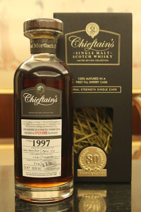 Chieftain's 1997 80th  First Fill Oloroso 老酋長 1997 雪莉桶 單桶原酒 (58.6% 30ml)