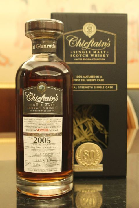 Chieftain's 2005 80th First Fill Oloroso 老酋長 2005 雪莉桶單桶 原酒 (58.7% 30ml)
