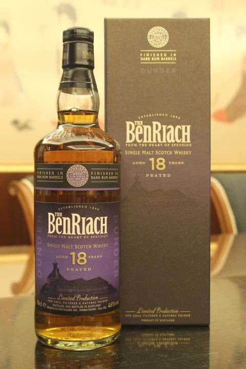 BenRiach 18yr Dunder Peated Dark Rum Barrels Finished 班瑞克 18年 泥煤蘭姆風味桶 (46% 30ml)