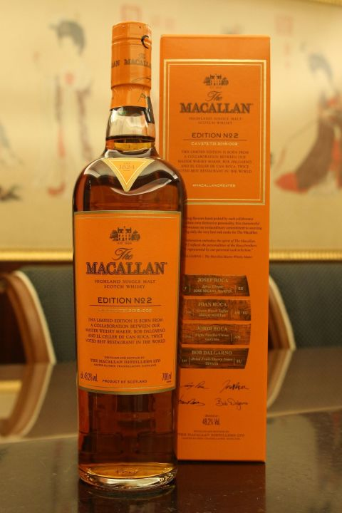Macallan 2016 Limited Edition No.2 麥卡倫 Edition No.2 限量版 700ml裝(48.2% 30ml)