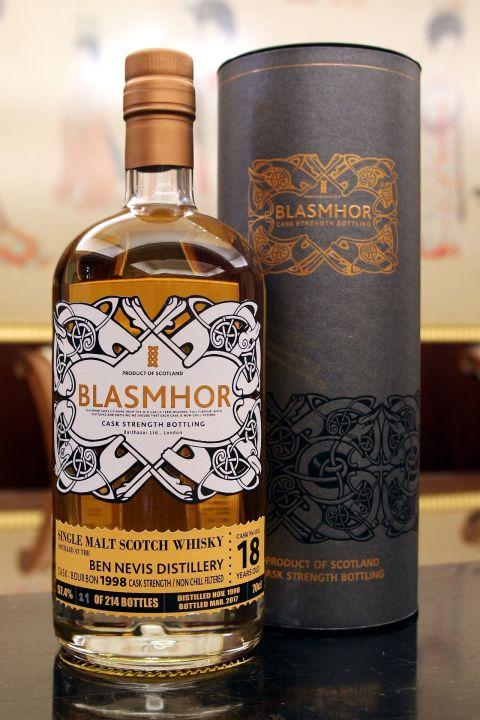 Blasmhor-Ben Nevis 18yr 1998-2017 Bourbon Cask 威仕摩 班尼富18年 單桶原酒 (57.4% 30ml)