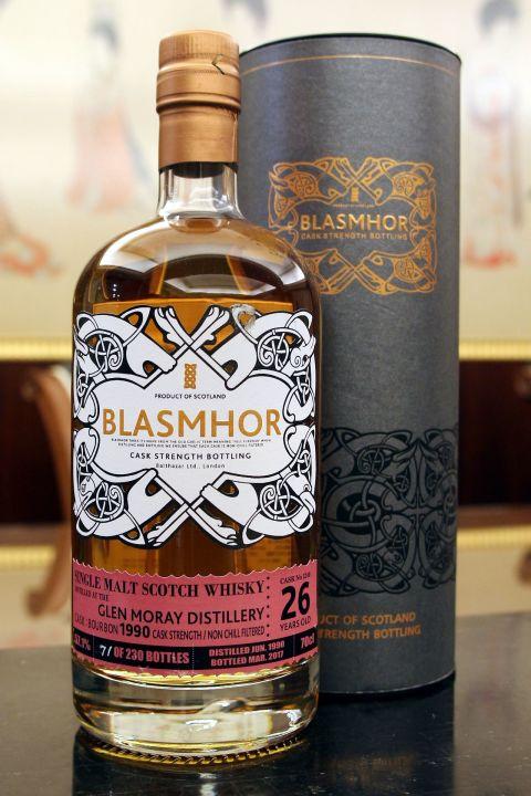 Blasmhor-Glen Moray 26yr 1990-2017 Bourbon Cask 威仕摩 格蘭莫雷 26年 單桶原酒 (57.1% 30ml)