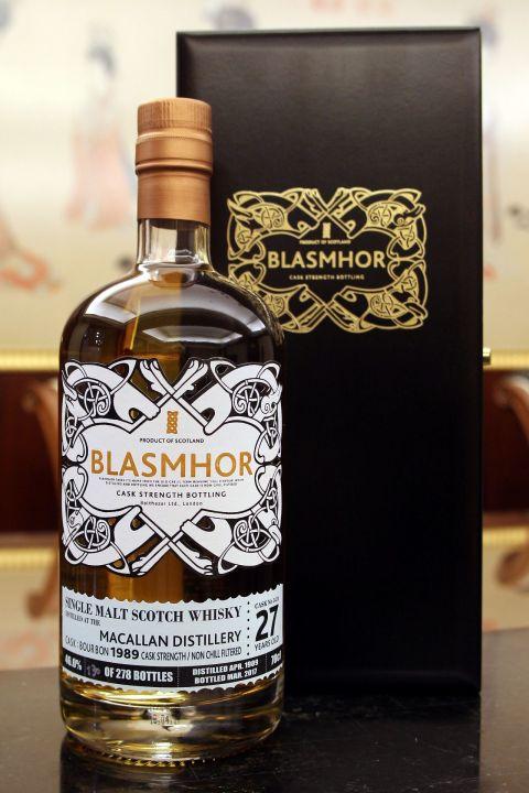Blasmhor-Macallan 27yr 1989-2017 Bourbon Cask 威仕摩 麥卡倫 27年 單桶原酒 (46% 30ml)