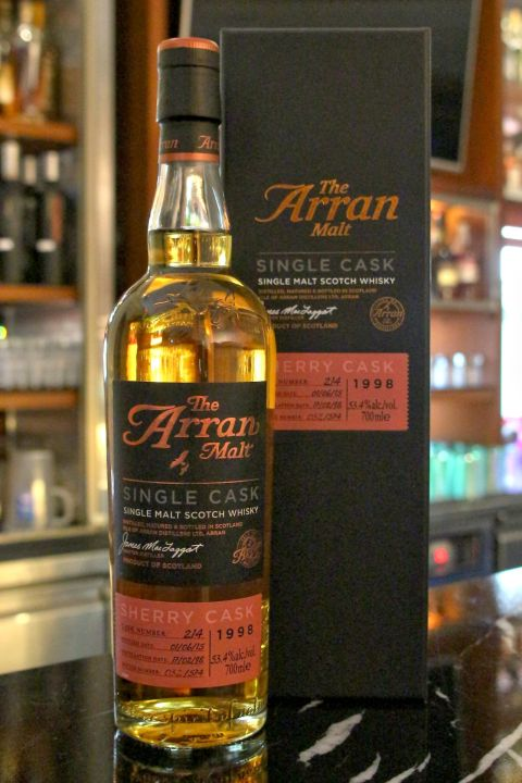 Arran 1998-2015 Sherry Cask No:214 愛倫 17年 雪莉單桶#214 (53.4% 30ml)