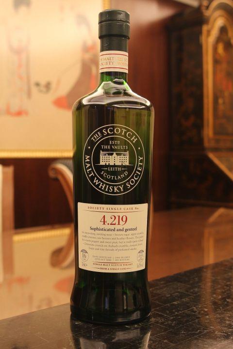 SMWS 4.219 Highland Park 16yr EX Bourbon 高原騎士 16年 波本桶原酒 (56.3% 30ml)