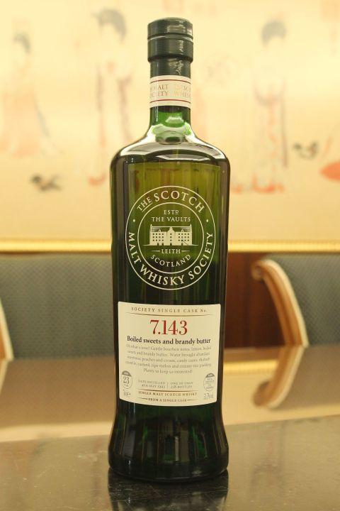 SMWS 7.143 Longmorn 23yr EX Bourbon 朗摩 23年 波本桶原酒 (53.7% 30ml)