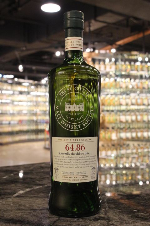 SMWS 64.86 Mannochmore 12yr EX Bourbon 曼洛克摩 12年 波本桶原酒 (59.8% 30ml)