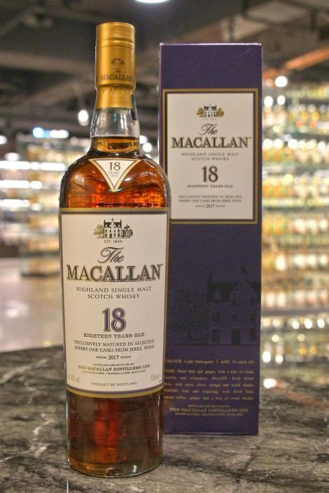 Macallan 18yr 2017 Sherry Oak Cask 麥卡倫 18年 2017 (43% 30ml)