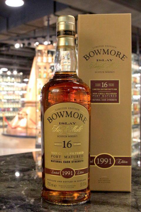 Bowmore 16yr Port Matured Cask Strength 1991 波摩 16年 1991 波特桶 (53.1% 30ml)