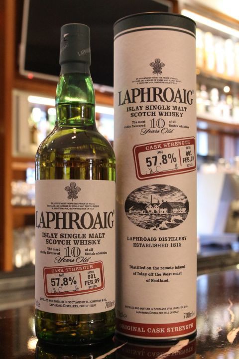 Laphroaig 10yr Cask Strength Batch: 001 拉佛格 10年 第一版原酒 (57.8% 30ml)