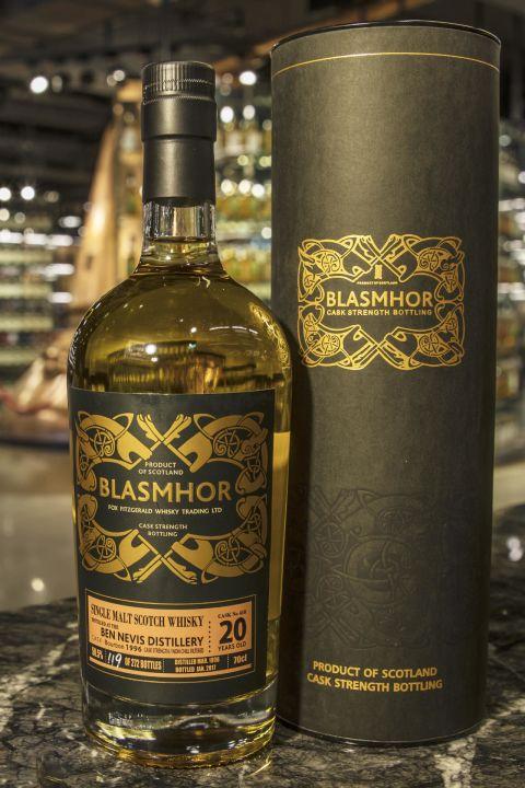 Blasmhor – Ben Nevis 20yr 1996 Bourbon Cask 威仕摩 – 班尼富 1996 20年 單桶原酒 (50.5% 30ml)