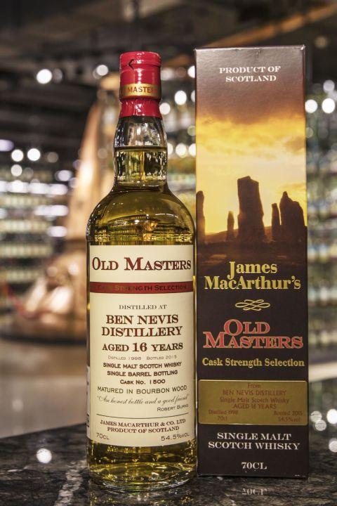 Old Masters - Ben Nevis 16yr 1998 麥大師 - 班尼富 16年 波本單桶原酒 (54.5% 30ml)