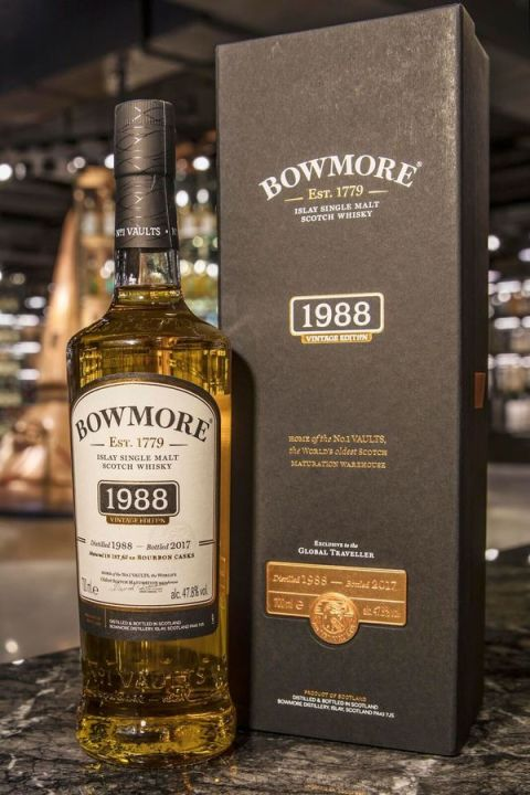 Bowmore 1988-2017 1st Ex-Bourbon No.1 Vaults 波摩 1號酒窖 初次波本桶 (47.8% 30ml)