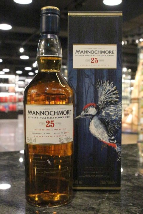 Mannochmore 25yr Natural Cask Strength 曼洛克摩 25年限定版 原酒 (53.4% 30ml)