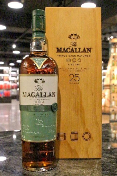Macallan 25yr Triple Cask Matured Fine Oak 麥卡倫 25年 黃金三桶系列 (43% 30ml)