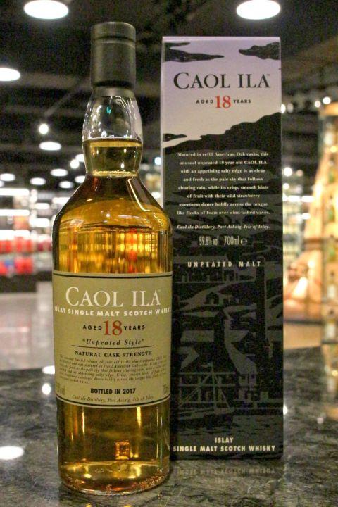 Caol Ila 18yr 2017 Unpeated Malt Cask Strength 卡爾里拉 18年 2017 無泥煤 原酒 (59.8% 30ml)