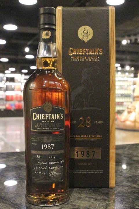 Chieftain's 28yr 1987-2015 Single Cask 老酋長 28年 雪莉單桶 1987 羊年限定版原酒 (52.9% 30ml)