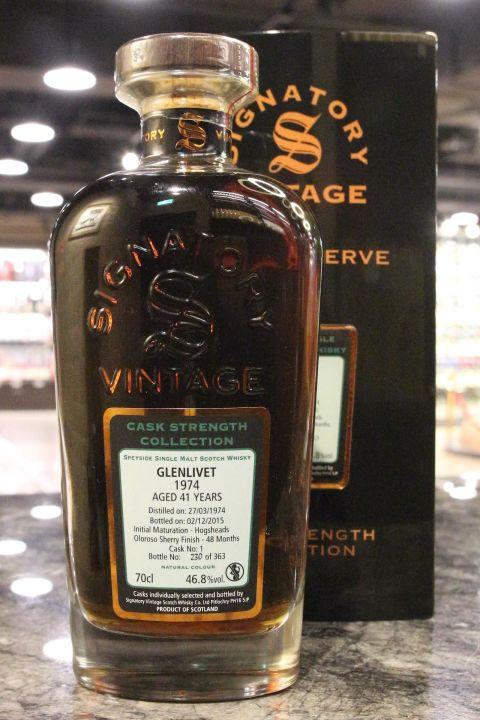 Signatory - Glenlivet 41yr 1974 Single Cask 聖弗力 - 格蘭利威 41年 雪莉單桶原酒 (46.8% 30ml)