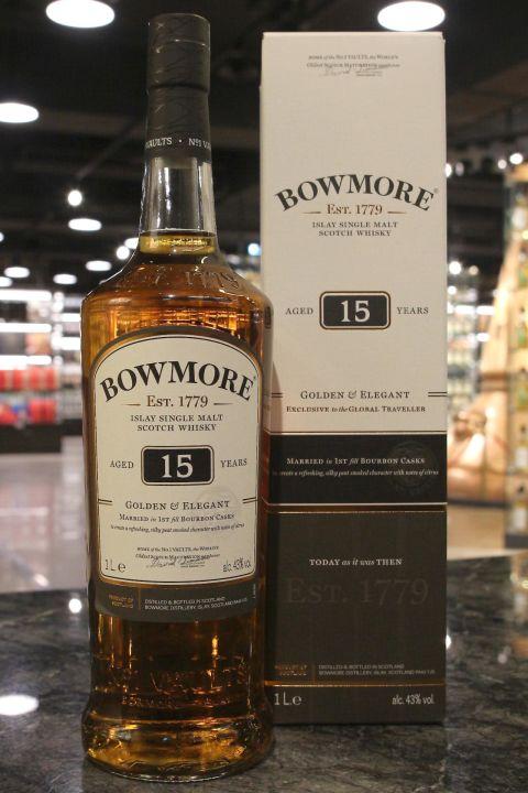 Bowmore 15yr 1st Fill Bourbon Casks 波摩 15年 初次波本桶 (43% 30ml)