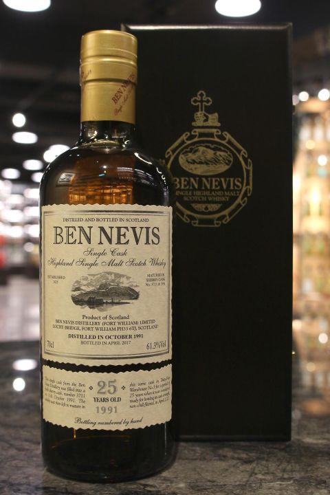 Ben Nevis 25yr 1991-2017 Single Sherry Butt 班尼富 25年1991 雪莉桶 單桶原酒 (61.3% 30ml)