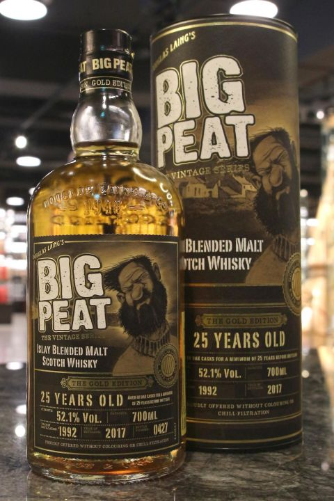 Douglas Laing's Big Peat 25yr 1992-2017 Gold Edition 道格拉斯蘭恩 泥煤哥 25年黃金限量版 (52.1% 30ml)