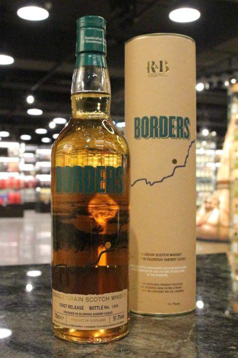 R&B Borders Single Grain 邊境地區 雪莉桶 單一穀物 第1版 (51.7% 30ml)