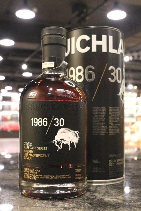 Bruichladdich 1986 30yr Rare Cask Series 布萊迪 1986 珍稀桶系列 雪莉桶 (44.6% 30ml)