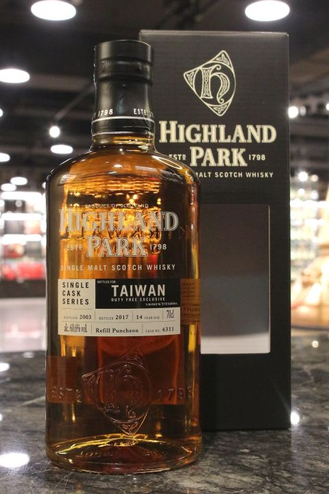Highland Park 2003-2017 #6311 Tawan Exclusive 高原騎士 14年 單桶 台灣限定  (60.6% 30ml)