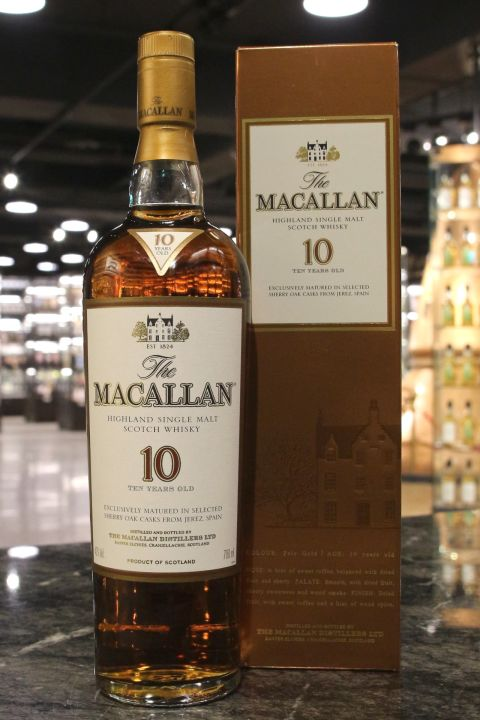 Macallan 10yr Sherry Oak Casks 麥卡倫 10年 雪莉桶 (40% 30ml)