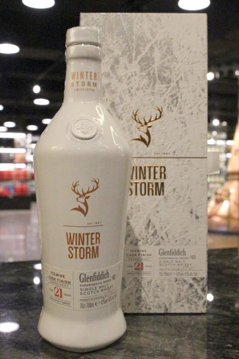 Glenfiddich Winter Storm 21yr Ice Wine Cask 格蘭菲迪 冰風暴 21年 冰酒桶 (43% 30ml)
