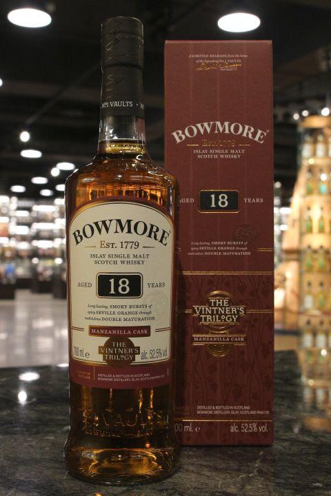 Bowmore 18yr Manzanilla Sherry Cask 波摩 18年 曼查尼亞雪莉桶 (52.5% 30ml)