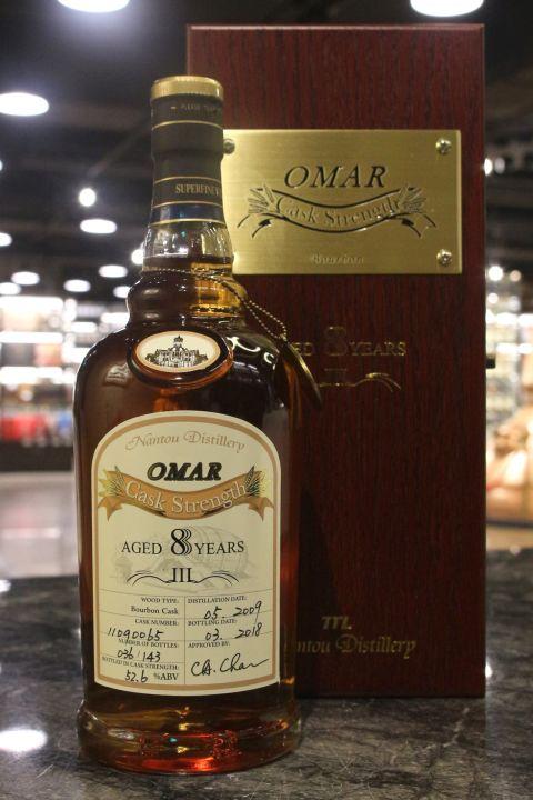 TTL Omar 8yr 2009-2018 Bourbon Cask Strength #065 臺灣菸酒 8年 波本桶原酒 (52.6% 30ml)