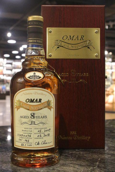 TTL Omar 8yr 2009-2018 Bourbon Cask Strength #102 臺灣菸酒 8年 波本桶原酒 (52.8% 30ml)