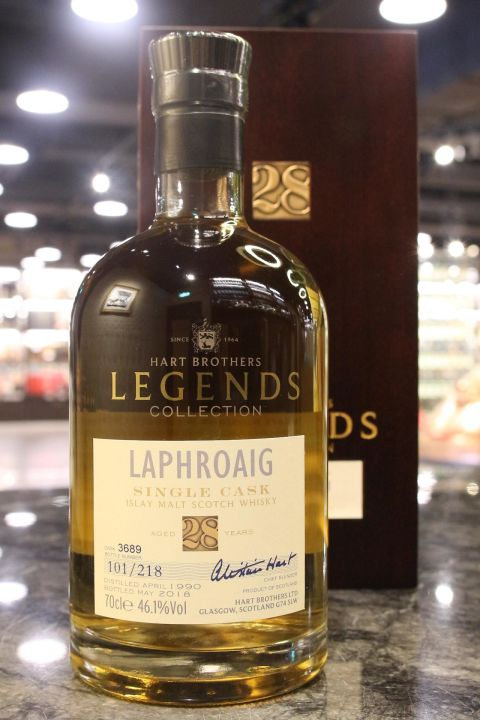 Hart Brothers - Laphroaig 28yr 1990 Single Cask 威伯特 - 拉佛格 28年 單桶 (46.1% 30ml)