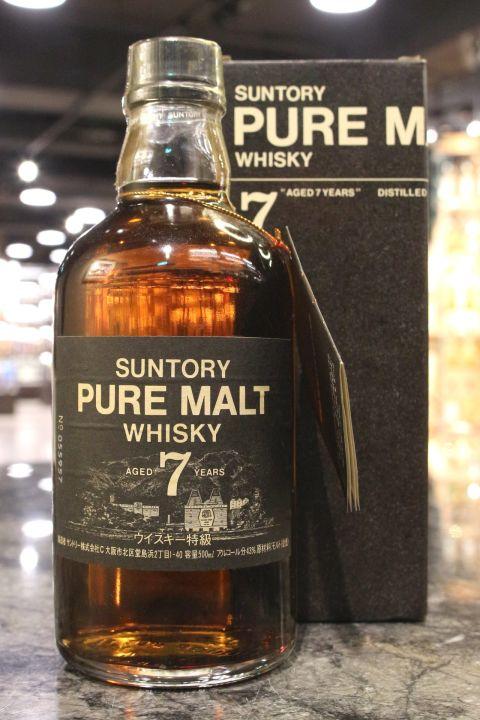 Suntory 7yr Pure Malt Black Label 三得利 7年 雙獅版 黑標 特級 純麥 (山崎) (43% 30ml)