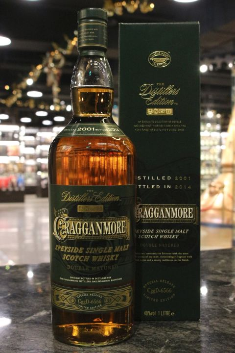 Cragganmore 2001-2014 Distillers Edition Double Matured 克拉格摩爾 2001 酒廠限定版 (40% 30ml)