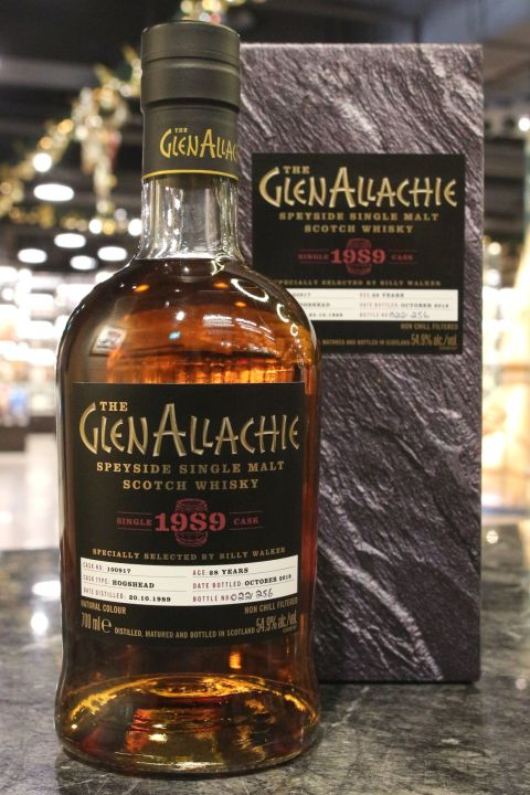 Glen Allachie 1989-2018 28yr Single Hogshead No:100917 艾樂奇 1989 28年 豬頭單桶 (54.9% 30ml)