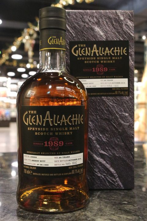 GlenAllachie 1989-2018 29yr Single Sherry Butt No:100050 艾樂奇 1989 29年 雪莉單桶 (60.1% 30ml)