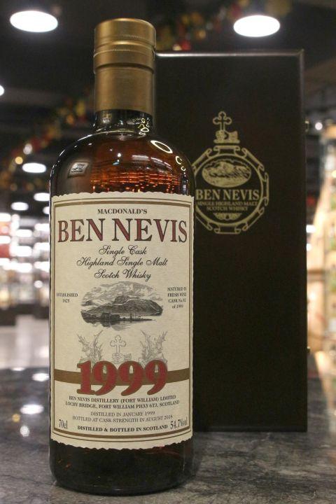 Ben Nevis 1999-2018 Single Wine Cask Finish 班尼富 19年 紅酒風味單桶 限量版 (54.7% 30ml)