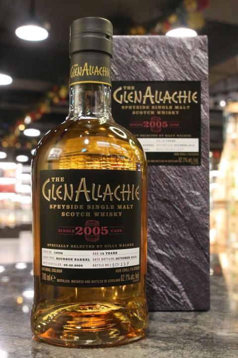 Glen Allachie 2005-2018 13yr Single Bourbon Barrel 艾樂奇 2005 13年 波本單桶 (62.1% 30ml)