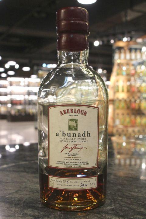 Aberlour A'Bunadh Cask Strength Batch No.6 亞伯樂 首選原酒 第6批次 90年代後期 (59.9% 15ml)
