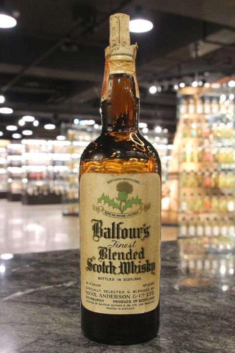 Balfour's 100% Scotch Finest Blended Scotch Whisky 貝爾福 調和威士忌 60年代 (49.6% 15ml)