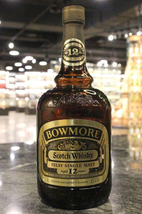 Bowmore 12y Scotch Whisky Dumpy Bottle 波摩 12年 矮胖瓶 80年代舊版 (43% 15ml)