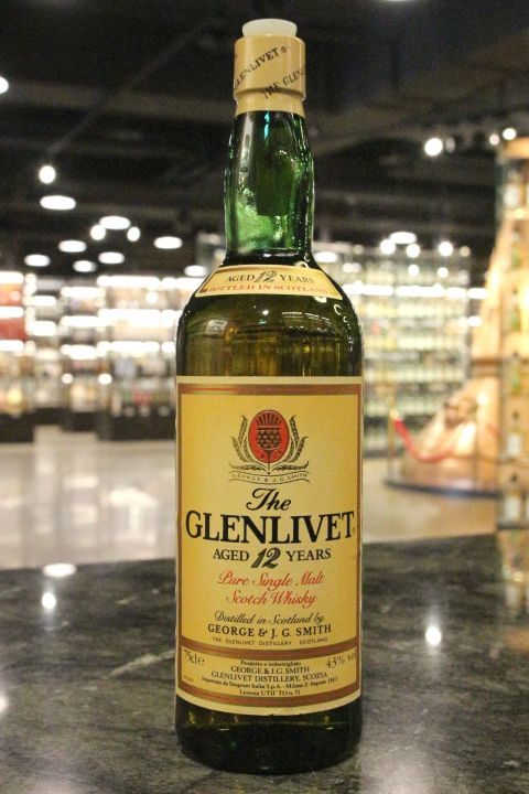 Glenlivet 12yr Pure Single Malt Whisky 格蘭利威 12年 80年代晚期 (43% 15ml)