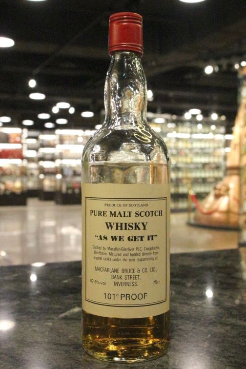 "Macallan-Glenlivet Pure Malt ""As we get it"" 101Proof  麥卡倫-格蘭利威 (57.6% 15ml)"