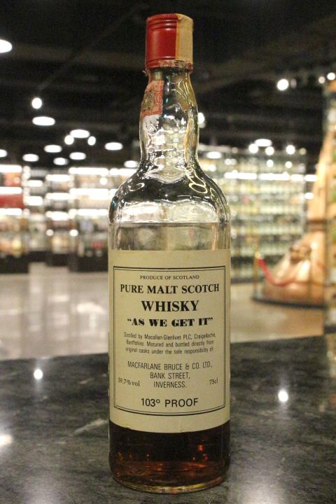 """Macallan-Glenlivet Pure Malt """"As we get it"""" 103Proof 麥卡倫-格蘭利威 (59.7% 15ml)"""