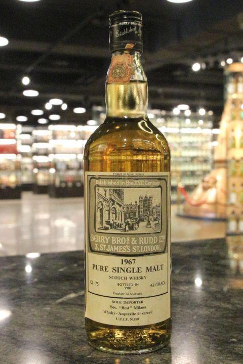 BBR - Pure Single Malt 1967~1980 貝瑞 1967 單一純麥威士忌 (43% 15ml)