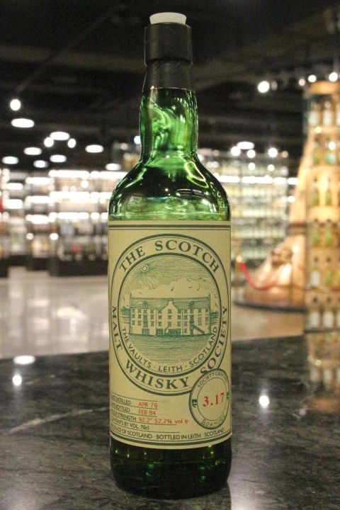 SMWS 3.17 Bowmore 1976 Cask Strength 波摩 1976 原酒 蘇格蘭威士忌協會 (52.7% 15ml)